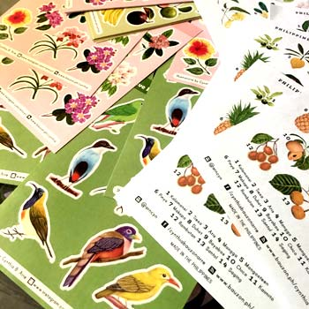Philippine flora and fauna stickers