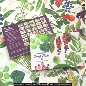 philippine forest fruits postcard set