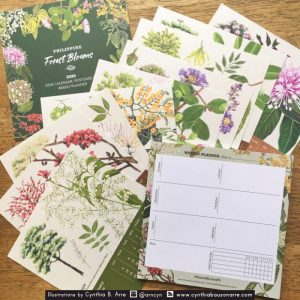 Philippine Forest Blooms Calendar and Notepad