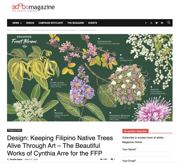 Forest Blooms Ph Adobo Magazine