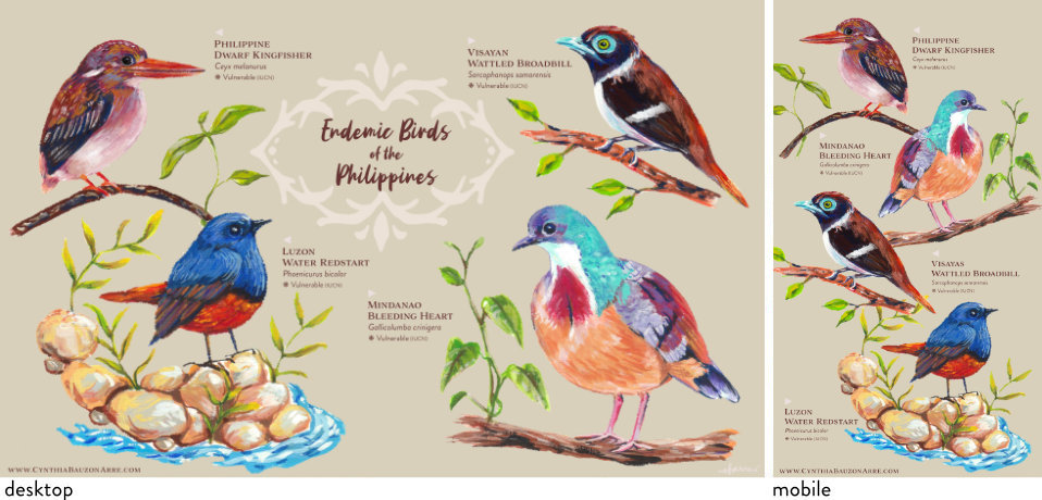 Philippine endemic birds wallpaper