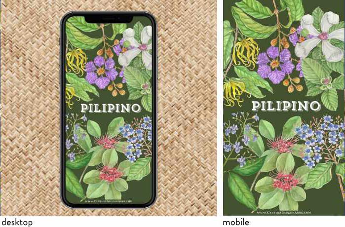 Pilipino Native Flowers lockscreen wallpaper